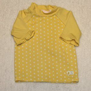 Janie and Jack Yellow Rash Guard